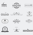 Food restaurant emblems vector image vector image