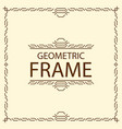 frame geometric line style vector image vector image