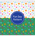 fun day pattern background and texture vector image vector image