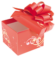 Gift box vector image vector image