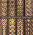 golden patterns weave vintage design vector image