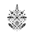 Hand drawn tribal art vector image vector image