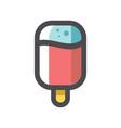 ice cream popsicle icon cartoon vector image