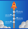 infographics template rocket or spaceship 4 steps vector image vector image