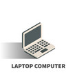laptop computer icon symbol vector image