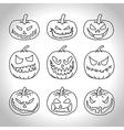 Line pumpkins vector image