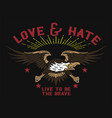love and hate eagle vector image