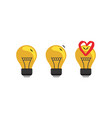 love story between two mosquitoes in a light bulb vector image vector image
