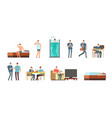 man in everyday life people daily routine vector image vector image