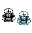 Marine international shipbuilders banner vector image vector image