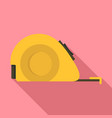 measuring tape icon flat style vector image