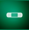 medical bandage plaster icon on green background vector image vector image