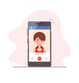 mobile video call vector image vector image