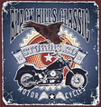 motorcycle black hills classic vector image vector image