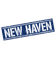 new haven blue square stamp vector image vector image