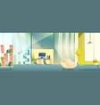 office working cabinet cartoon interior vector image vector image