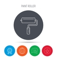 Paint roller icon Paintbrush tool sign vector image vector image