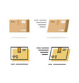 parcel package paper icon isolated vector image