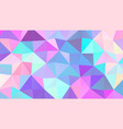 pastel bright colors low poly banner design vector image
