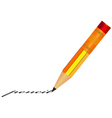 pencil with eraser vector image vector image