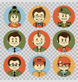 people avatars collectionprofessions flat icons vector image