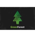 Pine logo design Green forest logo grunge logo vector image vector image