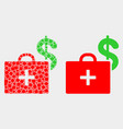 pixelated and flat medical business case vector image vector image