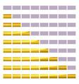 progress loading bar with lighting vector image vector image