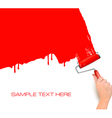 red roller paint vector image vector image