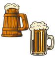 set beer mug on white background design vector image