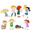 set of children scene vector image vector image