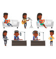 set of media people characters vector image vector image