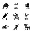 sidecar icons set simple style vector image vector image