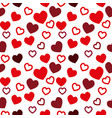 simple hearts seamless pattern valentines vector image vector image