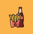 soda soft drink iand french fries vector image
