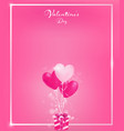 soft pink invitation card with pearl pink border vector image