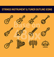 string instrument icon set outline icons base on vector image vector image