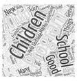 successful after school programs Word Cloud vector image vector image