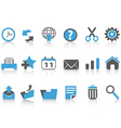 toolbar icons setblue series vector image vector image