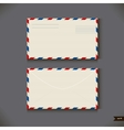 Two airmail envelope on gray background vector image vector image