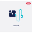 two color magsafe icon from electronic devices vector image vector image