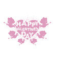 Valentines day logo Heart and Cupid Many Cupids vector image vector image