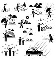 weather climate atmosphere environment vector image vector image