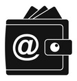 web money wallet icon simple style vector image vector image
