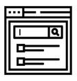 web search vector image vector image