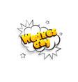 wednesday comic text speech bubble pop art vector image vector image