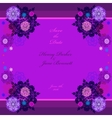Winter wedding frame with violet and blue vector image vector image
