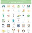 medical color flat icon set Elegant style vector image