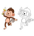 educational game for kids and coloring book vector image