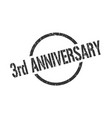 3rd anniversary stamp vector image vector image